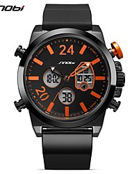 Недорогие -Муж. Спортивные часы Повседневные часы электронные часы Японский Цифровой Календарь LED С двумя часовыми поясами Фосфоресцирующий