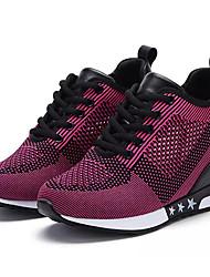 economico -Da donna Scarpe Tulle Primavera Autunno Comoda scarpe da ginnastica Footing Piatto Punta tonda Lacci Per Casual Nero Grigio Fucsia Rosso