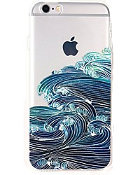 cheap -For iPhone X iPhone 8 Case Cover Ultra-thin Transparent Pattern Back Cover Case Scenery Soft TPU for Apple iPhone X iPhone 8 Plus iPhone