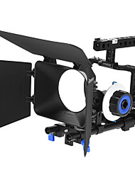 andoer video professionale gabbia rig kit kit di produzione cinematografica w / 15mm asta seguire mf ff scatola opaca per sony a6000 a6300