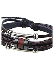 Недорогие -Муж. Кожаные браслеты - Кожа Мода Браслеты Кофейный Назначение Повседневные На выход