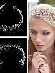 Crystal Imitation Pearl Headbands Head Chain Headpiece
