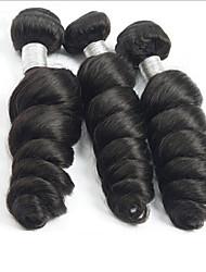 Недорогие -3 Связки Бразильские волосы Свободные волны Не подвергавшиеся окрашиванию Пучок волос Ткет человеческих волос Расширения человеческих волос