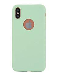 Недорогие -Назначение iPhone X iPhone 8 Чехлы панели Ультратонкий Задняя крышка Кейс для Сплошной цвет Мягкий Термопластик для Apple iPhone X iPhone