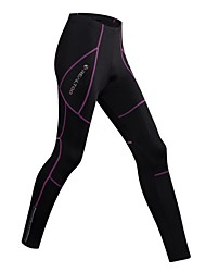 REALTOO® Cycling Tights Women's Bike Tights Pants/Trousers Padded Shorts Breathable Comfortable 3D Pad