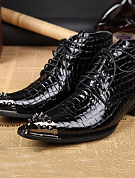 cheap -Men's Formal Shoes Nappa Leather Fall / Winter Boots Booties / Ankle Boots Black / Party & Evening