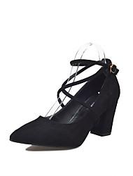 economico -Da donna Scarpe PU (Poliuretano) Primavera Estate Club Shoes Tacchi Basso Punta tonda Fibbia Per Casual Formale Nero Beige Marrone