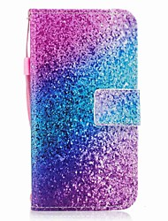 Case For Samsung Galaxy J7 (2017) J3 (2017) Wallet Card Holder Flip Pattern Magnetic Full Body Glitter Shine Color Gradient Hard PU