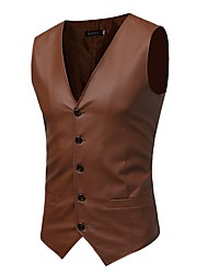 cheap -Men's Casual/Daily Work Casual Chinoiserie Sophisticated Fall Winter Vest