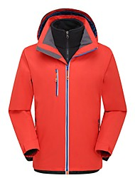 Men's Hiking 3-in-1 Jackets Outdoor Breathability Low-friction Winter Dress Hunting Fishing Hiking Camping