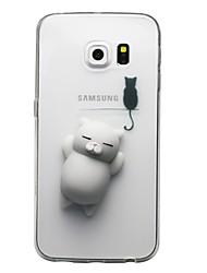 abordables -Funda Para Samsung Galaxy S8 Plus S8 Transparente Diseños Manualidades Blando Cubierta Trasera Gato Dibujo 3D Suave TPU para S8 S8 Plus