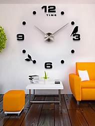 Modern/Contemporary Country Casual Office/Business Fashion Wall Clock,Bird EVA Stainless steel Indoor/Outdoor Indoor Clock