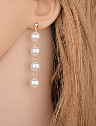 cheap -Women's Drop Earrings Imitation Pearl Fashion Simple Style Imitation Pearl Alloy Round Drop Jewelry For Party Casual