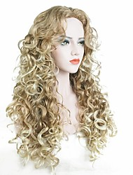 cheap -Synthetic Wig Curly Blonde Synthetic Hair Blonde Wig Women's Long Capless Strawberry Blonde / Light Blonde