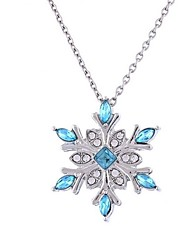 cheap -Women's Synthetic Diamond Pendant Necklace - Flower Classic, Fashion Dark Blue Necklace Jewelry For Christmas, Evening Party
