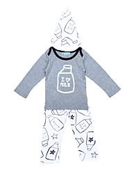 Baby Boy's Indoor Outdoor Casual/Daily Print Cartoon Clothing Set,Cartoon Spring/Fall Winter