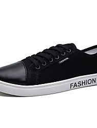 Men's Shoes Linen Fall Winter Comfort Sneakers Lace-up For Casual Blue Gray Black White