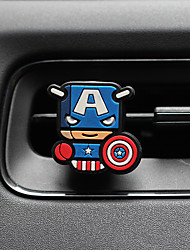 auto profumo ornamento superman creativo fumetto silicone metallo materiale automotive purificatore d'aria