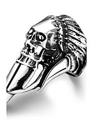 Herrn Knöchel-Ring Schmuck Punkstil individualisiert Edelstahl Aleación Geometrische Form Totenkopfform Schmuck Für Halloween Strasse