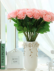10 Branches Round Rose Artificial Flowers Home Decoration Wedding Supply