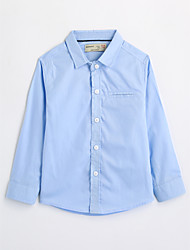 Boys' Solid Shirt,Cotton Fall Long Sleeve