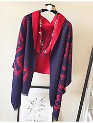 cheap -Women's Imitation Cashmere Rectangle Print Spring/Fall Autumn