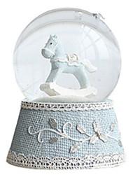 Balles Boîte à musique Jouets Circulaire Cheval Cristal Romantique Pièces Unisexe Anniversaire Cadeau