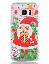 Case For Samsung Galaxy S7 edge S7 Flowing Liquid Transparent Pattern Back Cover Christmas Hard PC for S7 edge S7 S6 edge plus S6 edge