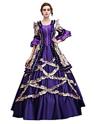 cheap -Cosplay Costumes Cinderella Goddess Santa Suits Vampire Festival/Holiday Halloween Costumes Purple Solid Color Lace Dress Halloween