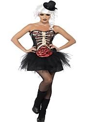 preiswerte -Braut Cosplay Kostüme Halloween Tag der Toten Fest / Feiertage Halloween Kostüme Schwarz Modisch