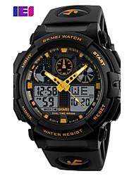SKMEI Hombre Reloj Deportivo Reloj digital Reloj de Moda Reloj de Pulsera Digital PU Banda Negro