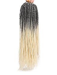 Недорогие -Волосы для кос Вязаные Спиральные плетенки Искусственные волосы 1шт / уп, 37 корней косы волос Средние 100% волосы канекалона