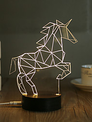 cheap -1 Set, Popular Home Acrylic 3D Night Light LED Table Lamp USB Mood Lamp Gifts, Horse