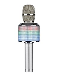 LED Light K51 Bluetooth Wireless Condenser Magic Karaoke Microphone Mobile Phone Music Player MIC Speaker Record Music Echo