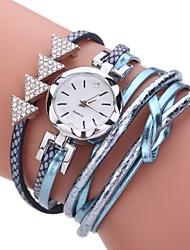 cheap -Women's Fashion Watch Bracelet Watch Simulated Diamond Watch Chinese Quartz Imitation Diamond PU Band Casual Bohemian Elegant Black White