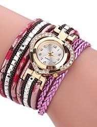 cheap -Women's Fashion Watch Bracelet Watch Simulated Diamond Watch Chinese Quartz Imitation Diamond PU Band Heart shape Casual Elegant Black