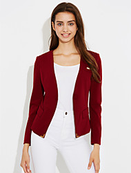 cheap -Women's Suits - Polka Dot Striped Shirt Collar