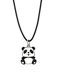 cheap -Men's Women's Adorable Panda Pendant Necklace  -  Animal Design Black Necklace For Party Club