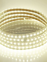 cheap -15M  220V Higt Bright LED Light Strip Flexible 5050 900SMD Three Crystal Waterproof Light Bar Garden Lights with EU Power Plug