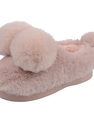 Da ragazza Scarpe Velluto Inverno Comoda Primi passi Fodera di pelliccia Fodera di lanugine Pantofole e infradito Pompon Per Casual Verde