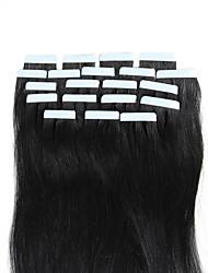 Недорогие -Febay На ленте Расширения человеческих волос Прямой Натуральные волосы Накладки из натуральных волос 16-24 дюймовый Блондинка Темно-рыжий Коричневый 1 комплект / Пролить бесплатно / Tangle Free