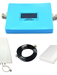 Intelligent Dual Band 850mhz 1900mhz Mobile Phone Signal Booster CDMA PCS Signal Repeater with Panel Antenna / Log Periodic Antenna / Blue