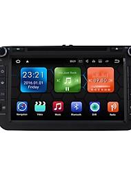 baratos -android 7.1.2 carro dvd player sistema multimídia 8 polegadas quad core wifi ex-3g dab para vw magotan focus 2007-2011 golf 5 golf 6 caddy