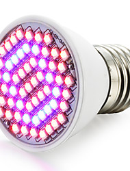 cheap -1500-1800lm E27 Growing Light Bulb 60 LED Beads SMD 3528 Blue Red 85-265V