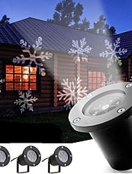 YouOKLight 12W Cool White Holiday Decoration Waterproof Outdoor Snowflake Projector lamp US/EU Plug AC100-240V 4PCS
