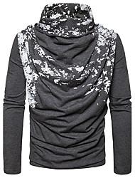 preiswerte -Herren Standard Pullover-Lässig/Alltäglich Punkt Rollkragen Langarm Baumwolle Frühling Herbst Mittel Mikro-elastisch