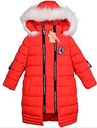 Mädchen Bluse einfarbig Druck Polyester Winter Lange Ärmel Lang
