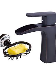 abordables -Set de centre Jet pluie Soupape céramique Mitigeur un trou Finition à l'oxyde noir, Robinet