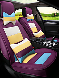 cheap -Flax Mosaic Rainbow Stripes Car Seat Cushion Seat Cover Seat Four Seasons General Surrounded By A Five Seat-Purple