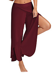cheap -Women's Active Loose Wide Leg Sweatpants Pants - Solid Colored High Rise